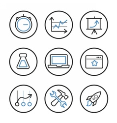 Set of search engine optimization icons vector