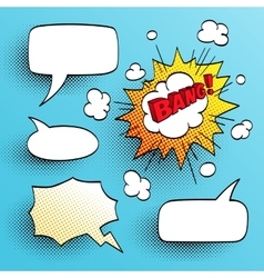 Set of speech comic bubbles vector