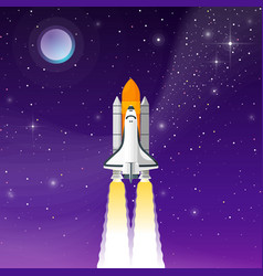 space shuttle take off vector image