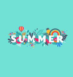 Summer sale banner template background vector