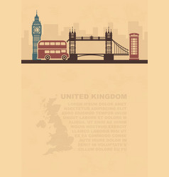 Template leaflets with a map of great britain and vector