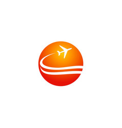 Travel plane transport company logo vector