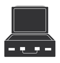 travel suitcase open icon vector image