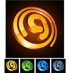 Vibrant 3d g letter vector image