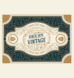 vintage logo and frame template vector image
