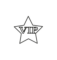 Vip star icon vector