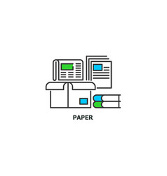waste paper recycle concept icon in line design vector image