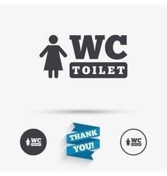 Wc women toilet sign icon restroom symbol vector