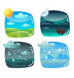 weather banners set design elements vector image