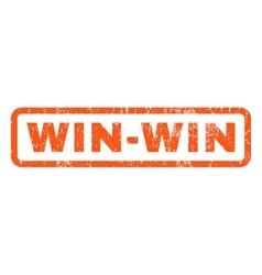 Win-Win Rubber Stamp vector image