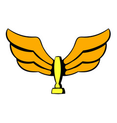 Wings trophy icon icon cartoon vector