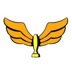wings trophy icon icon cartoon vector image