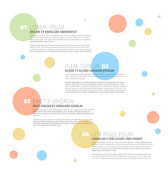Four steps template with circles vector