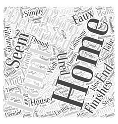 Home Decorating with Textured Paint Word Cloud vector image
