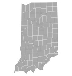 map of indiana vector image