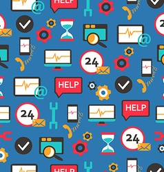 Seamless pattern with support equipment vector image vector image