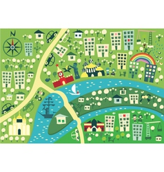 town graphic map vector image