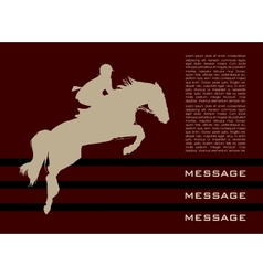 Background with horse vector image vector image