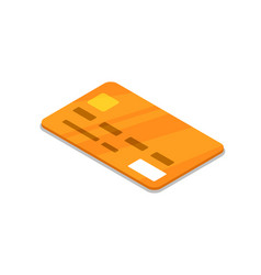 bank credit card isometric 3d icon vector image