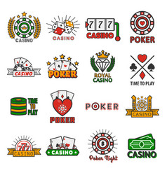 casino poker templates of chips and gamble vector image vector image