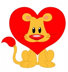 love lion vector image vector image