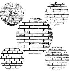 Set Brick Wall vector image vector image