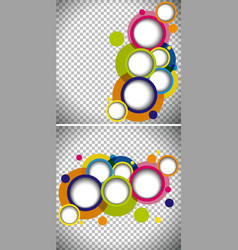 two background templates with round shapes vector image vector image