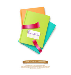 colorful stack of books brochures isolated vector image vector image