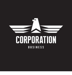 Corporation - Eagle Logo Sign in Classic Style vector image