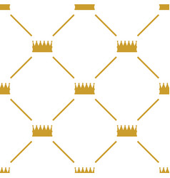 crowns seamless pattern vector image vector image