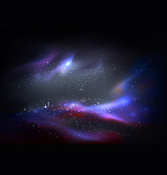 outer space and galaxy cosmos panorama vector image vector image
