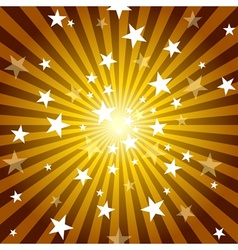 Sun Rays And Stars vector image vector image