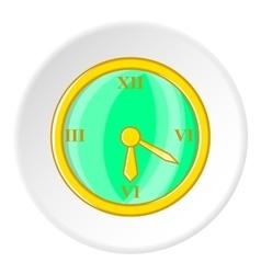 Clock icon cartoon style vector image