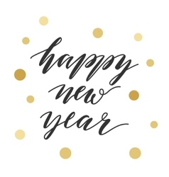 Happy new year calligraphic inscription vector