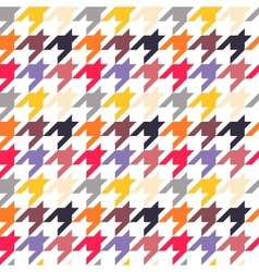 Houndstooth seamless pattern colorful vector image vector image