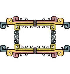 native American aztec ornate frame vector image vector image