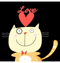 with love cat vector image vector image
