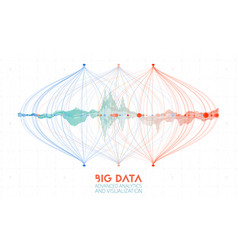 Abstract colorful big data information vector