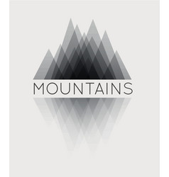 abstract mountain vector image