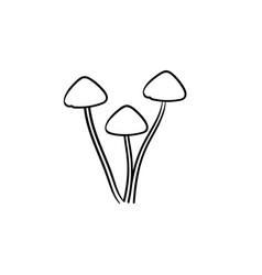 Agaric mushroom hand drawn sketch icon vector
