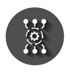 Algorithm api software icon in flat style vector