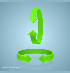 arrow rotation 3d vector image