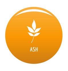 ash leaf icon orange vector image