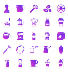 barista gradient icon on white background vector image