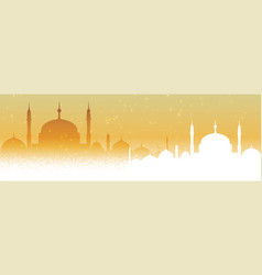 Beautiful mosque arabic background design vector