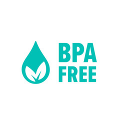 bpa free check mark leaf and drop icon safe food vector image