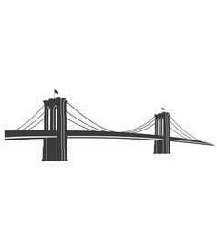 brooklyn grey vector image
