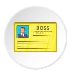 Business card icon flat style vector