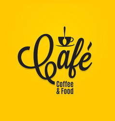 Cafe coffee and food menu coffee cup logo vector