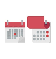 Calendar in flat icon opened vector